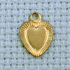 heart brass charm with border