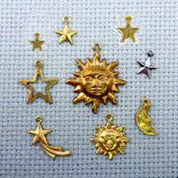 set of Celestial brass charms