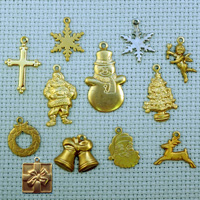 Christmas brass charms