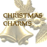 set of Christmas brass charms