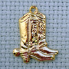 cowboy boots brass charm