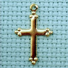 cross brass charm
