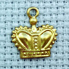 crown brass charm