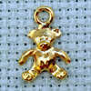 cute teddy brass charm