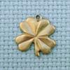four leaf clover brass charm