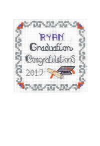 Graduation card cross stitch