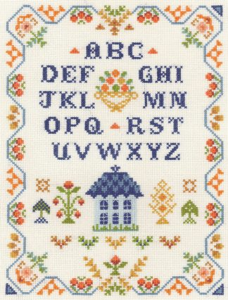 harvest traditional sampler cross stitch kit or chart