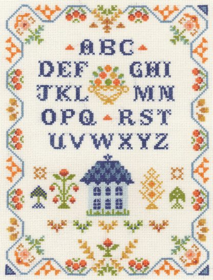 harvest traditional sampler cross stitch kit or chart