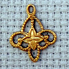 lace motif brass charm