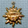 sun brass charm