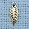 leaf brass charm