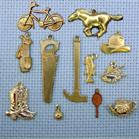 Leisure brass charms