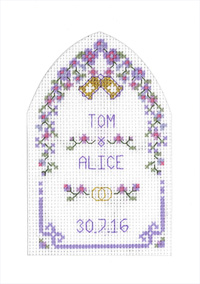 Lilac Arch Wedding card cross stitch