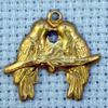 lovebirds brass charm