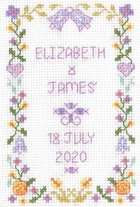 Mini Wedding Sampler cross stitch