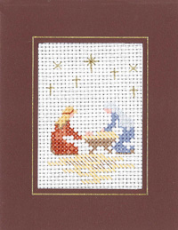 Nativity Xmas card cross stitch