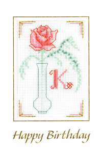 pink fizz initial birthday card