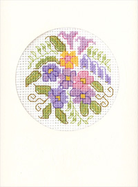 Primroses card cross stitch