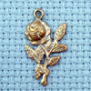 rose brass charm