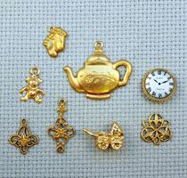 symbolic brass charms