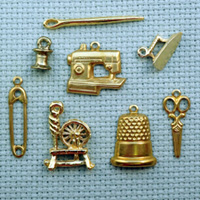 sewing brass charms