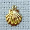 shell brass charm