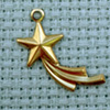shooting star brass charm