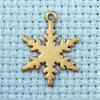 snowflake brass charm
