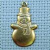 snowman brass charm