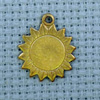 sunflower brass charm