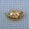 teapot brass charm