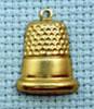 thimble brass charm