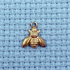 tiny bee brass charm