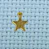 small flat star charm