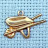 wheelbarrow brass charm