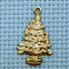 xmas tree brass charm